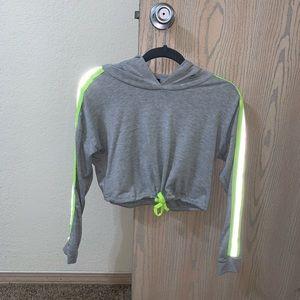 Brand new Fashion Nova cropped reflective hoodie